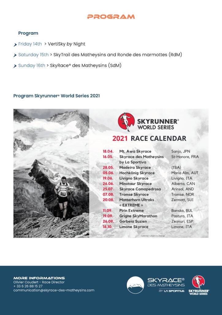 Program Skyrunner® World Series 2021