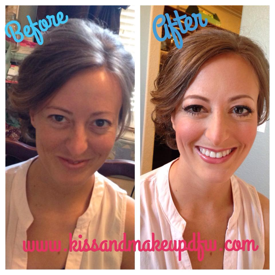 Michelle Airbrush Makeup Before and After