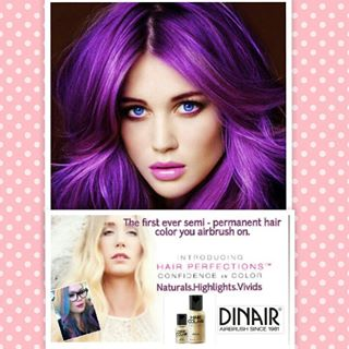 Dinair Airbrush Hair Color, hair ideas, prom hair, unique prom looks