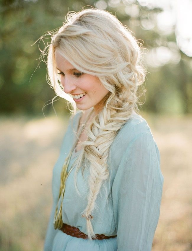 Fishtail long braid, braid updo, prom hairstyles, prom ideas 2016
