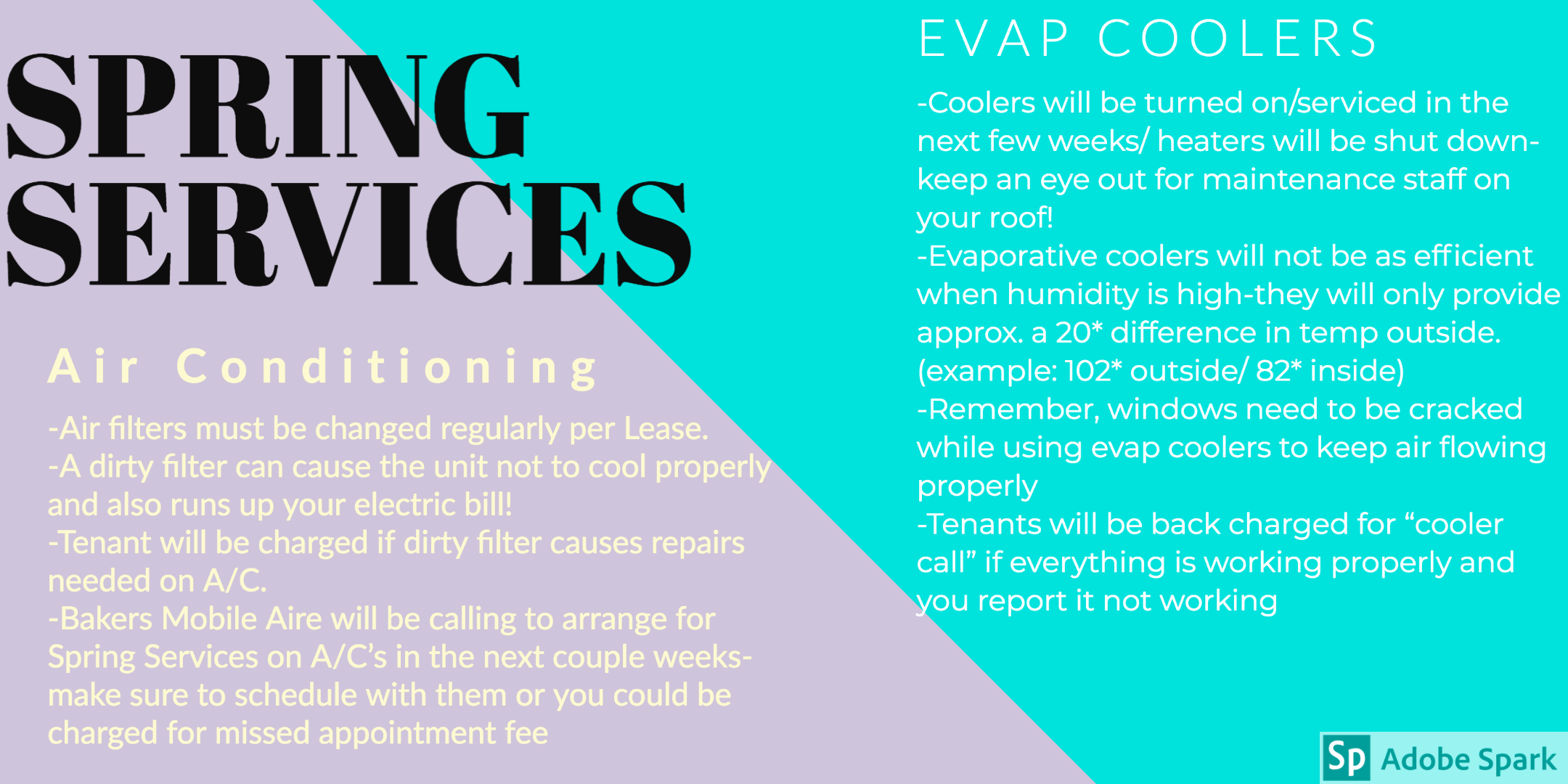 Spring Service Flyer For Tenants