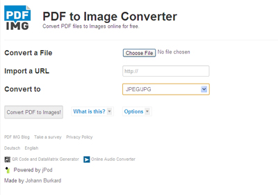 Convert a PDF to an Image