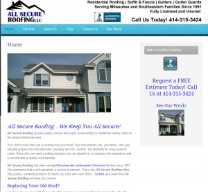 All Secure Roofing | Website created by Woo! Social Media Marketing