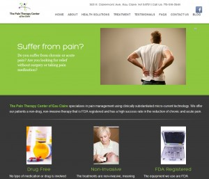 Pain Therapy Center of Eau Claire | Website Created by Woo! Social Media Marketing