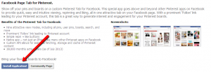 Install Pinterest Tab on Facebook