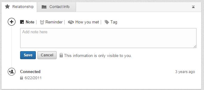 LinkedIn Relationship Feature