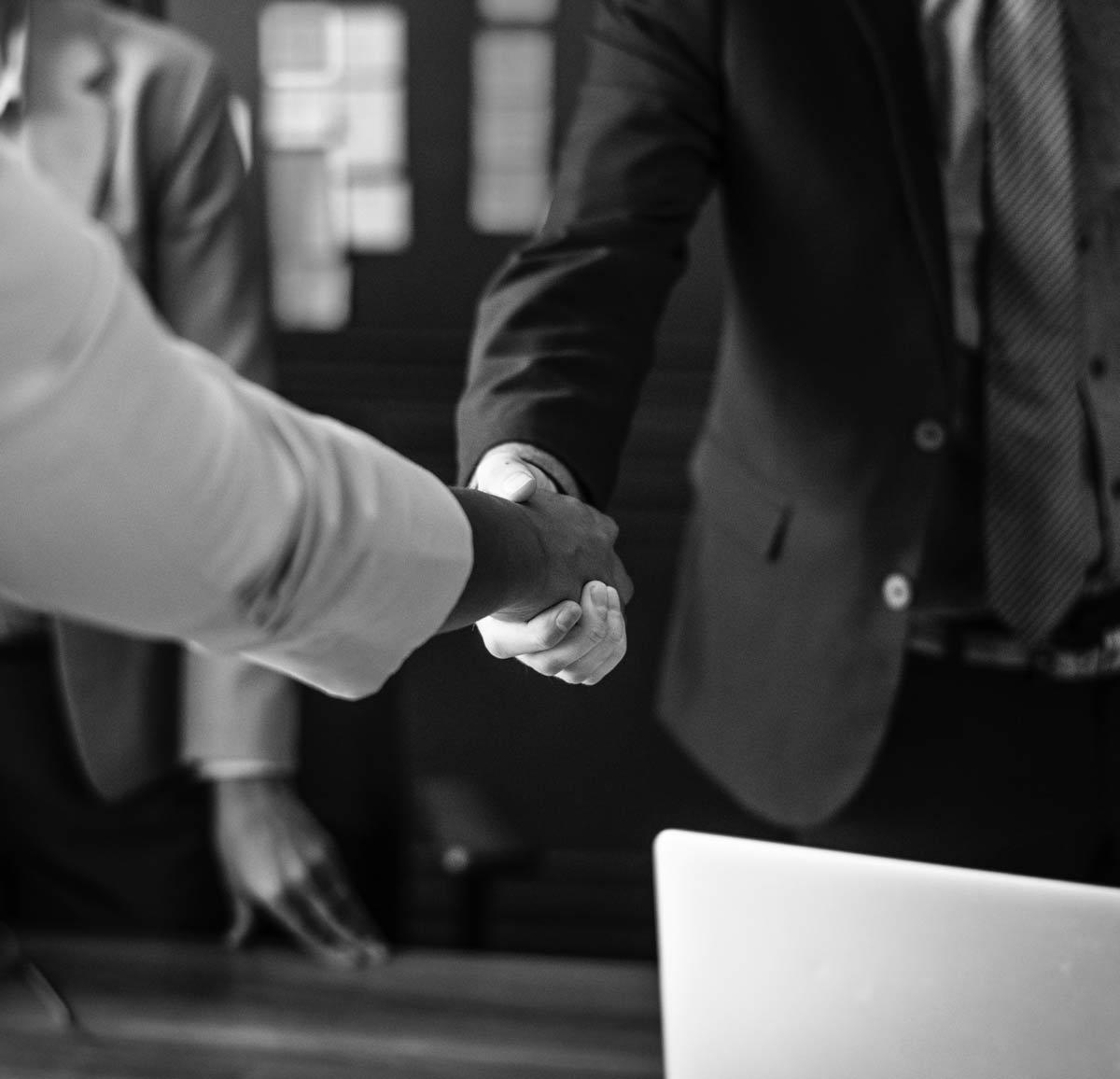 business meeting handshake