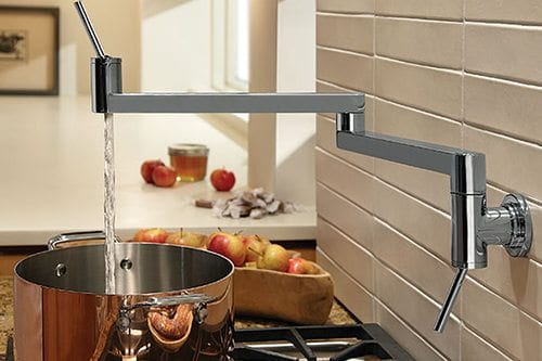 fancy faucet over a stove