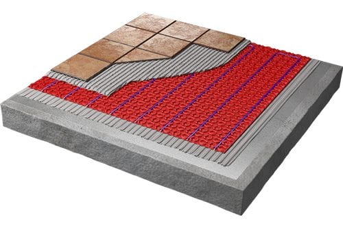 Heated floor diagram