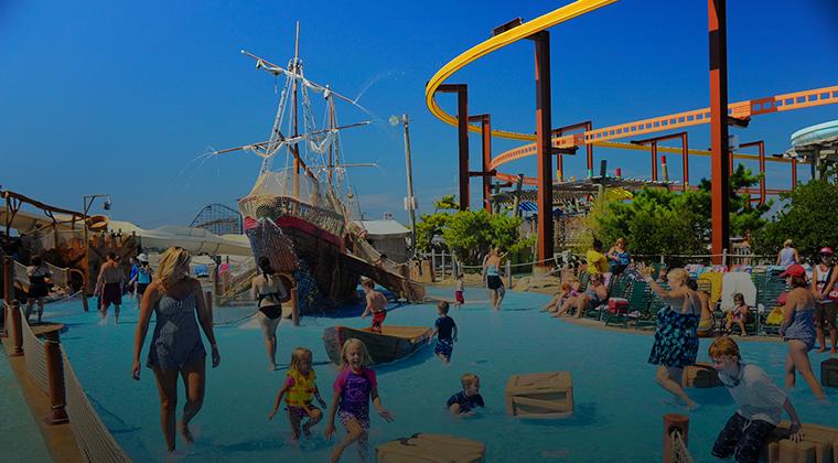 kids playing at waterpark in Wildwood, NJ