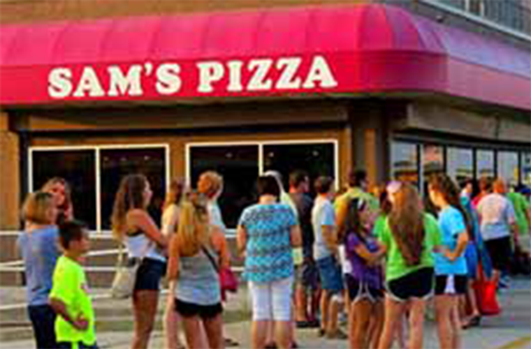Sam's Pizza restaurant in Wildwood, NJ