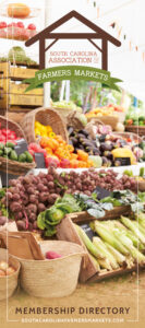 Farmers Market assortment of vegetables with SCAFM logo