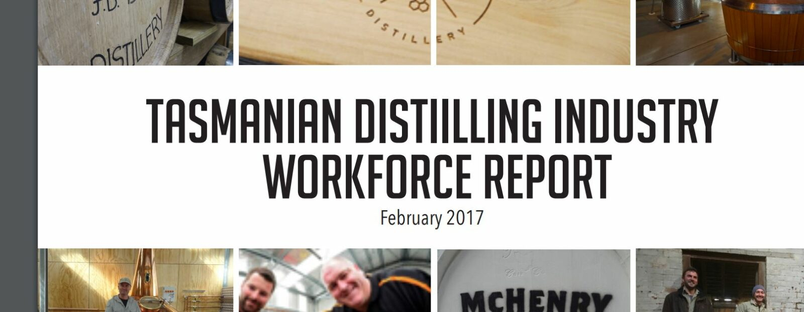 cover of workforce report for distilling