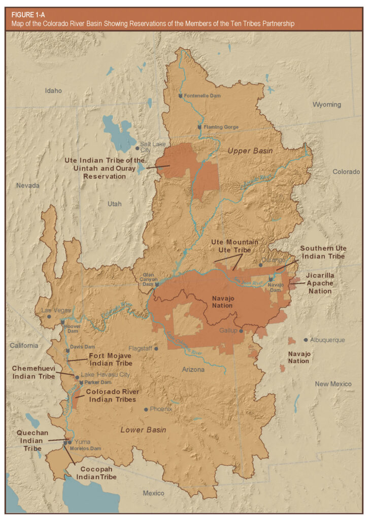 Map of Ten Tribes Partnership of Colorado River Basin