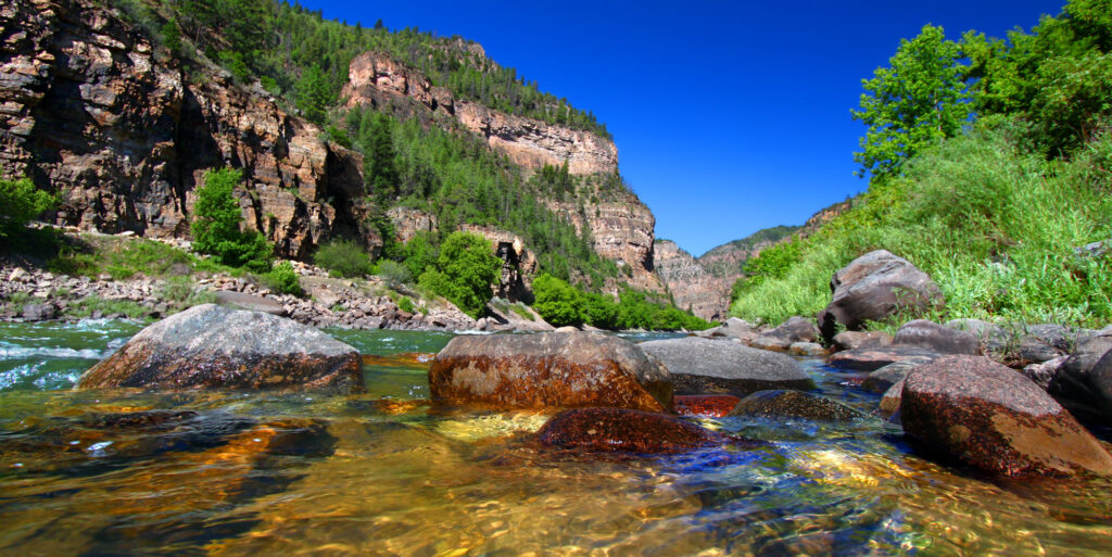 Colorado River flows through the White River National Forest. Photo: Adobe Stock.