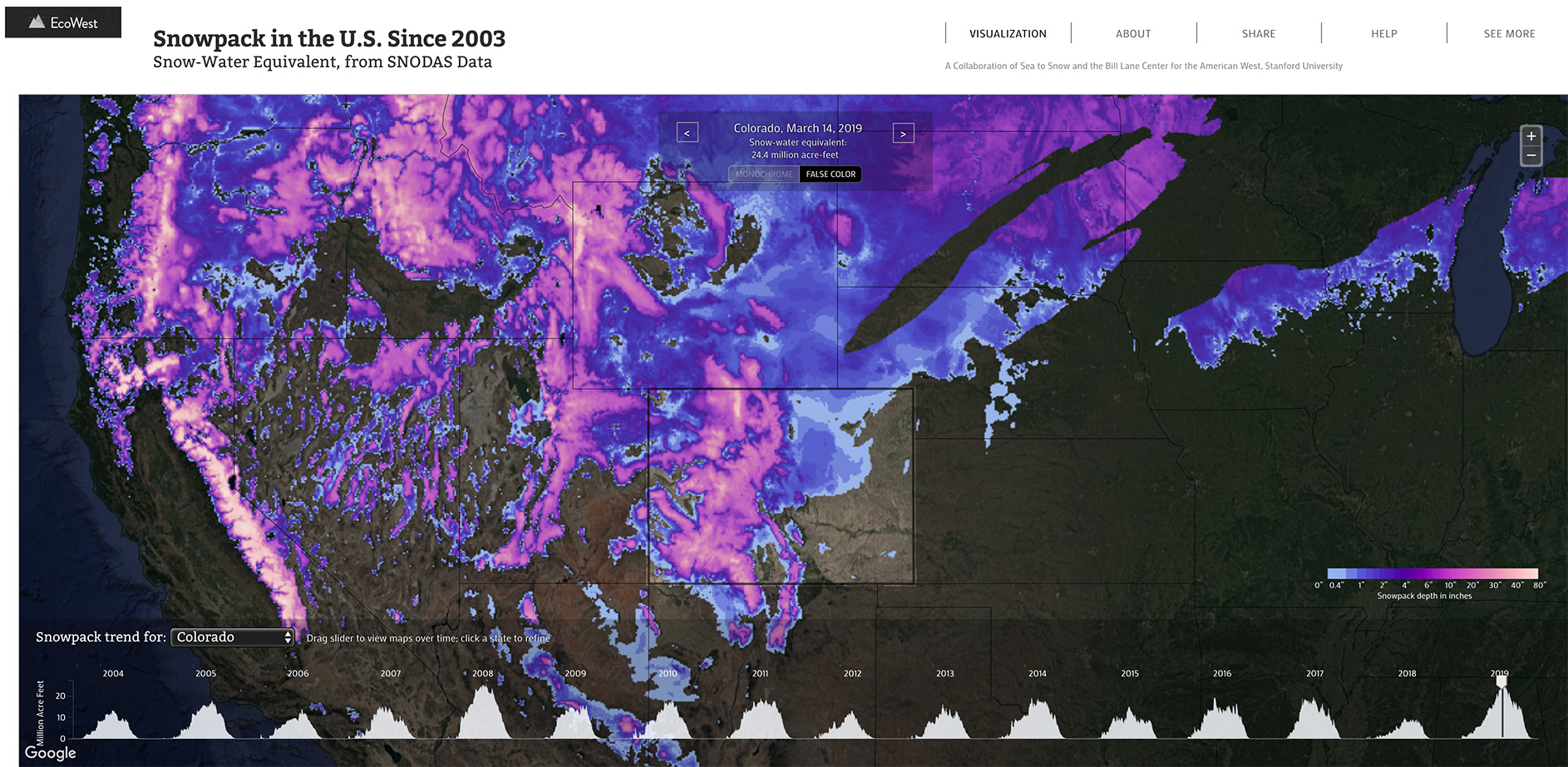 snowpack dashboard map