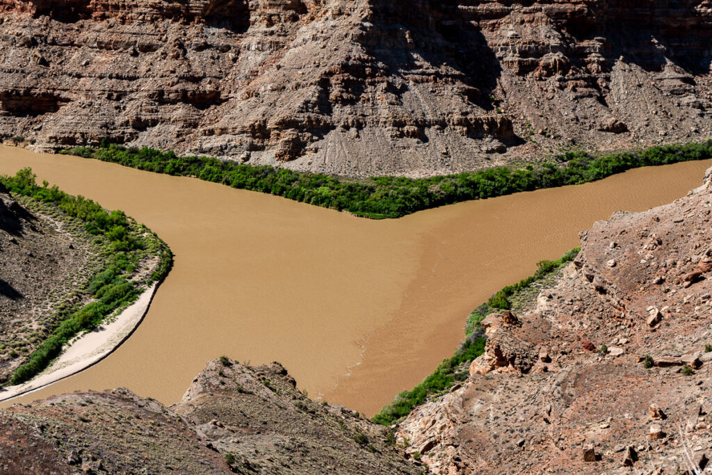 Confluence of the Green River and Colorado River in Utah's Canyonlands National Park. Photo by Mitch Tobin.