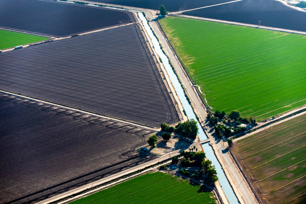 The 80-mile-long All-American canal takes water from the Colorado River to California's Imperial Valley, a major sources of U.S. fruits, vegetables, and cotton. PHOTO BY TED WOOD