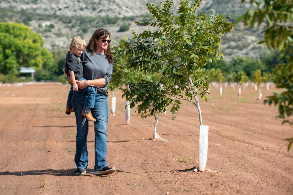Claudia Hauser is working with The Nature Conservancy to cut water use on her farm in Arizona's Verde Valley.