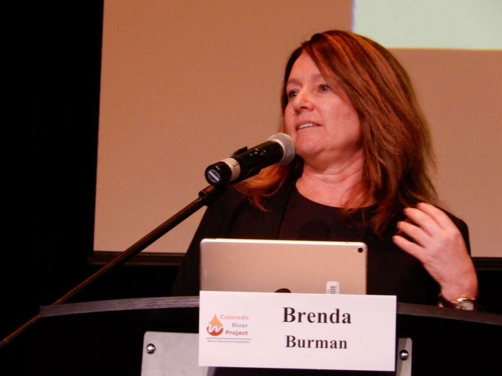 Reclamation Commissioner Brenda Burman supports collaboration and cooperation between Basins within the confines of the Compact. Source: Water Education Foundation