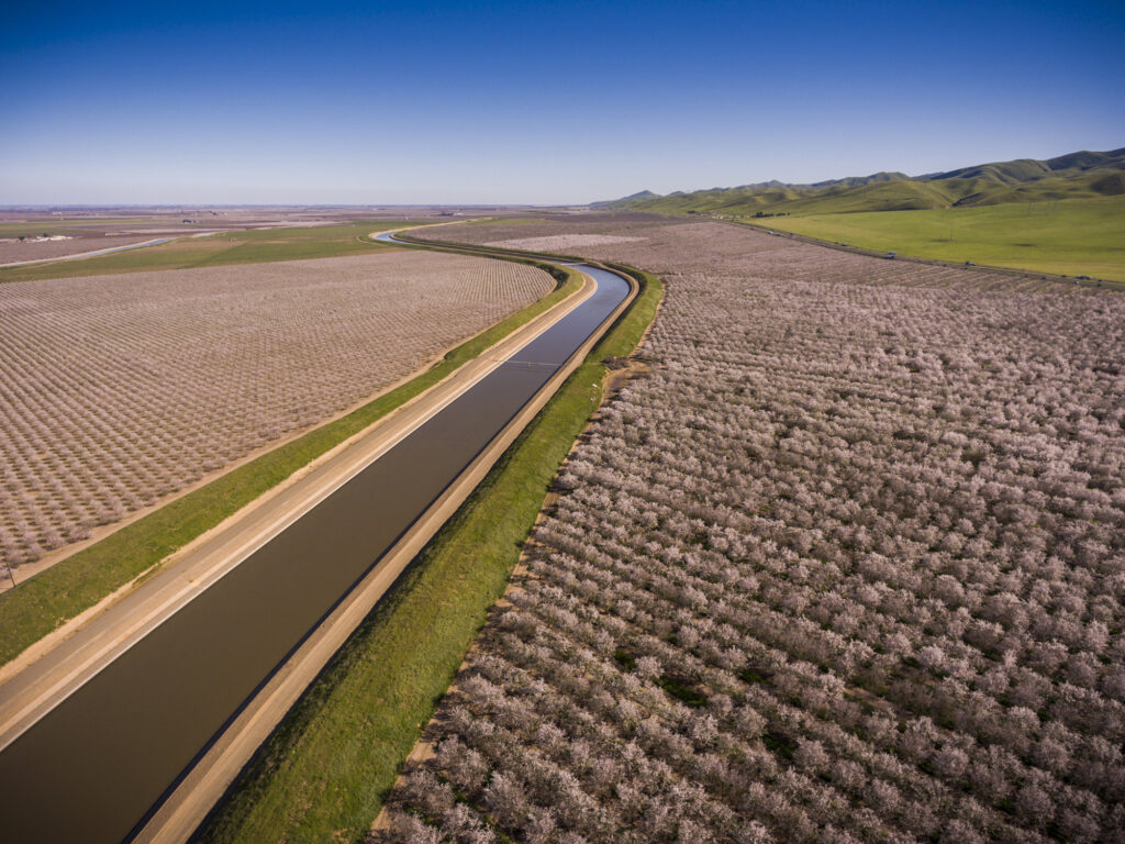 Aerial view of the California Aqueduct. Source: Adobe Stock