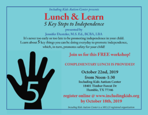 Lunch & Learn: 5 Key Steps to Independence