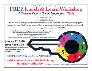 Lunch & Learn: 5 Critical Keys to Speak Up for Your Child