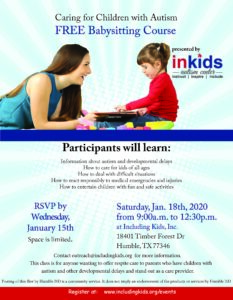 Babysitter Training Course @ Including Kids Autism Center
