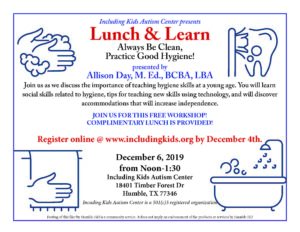 Lunch & Learn: Hygiene @ Including Kids Autism Center