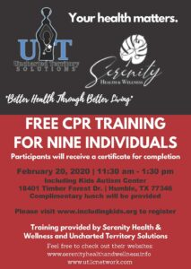CPR Training for 9 Individuals @ Including Kids Autism Center