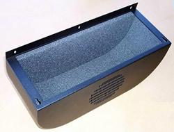 Embossed foam in a speaker cabinet.