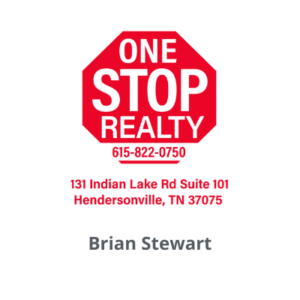 One Stop Realty logo with the name Brian Stewart below