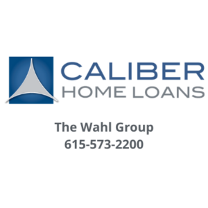 Caliber Hoam Loans logo with the name The Wahl Group and their number 615-573-2200 underneath the logo