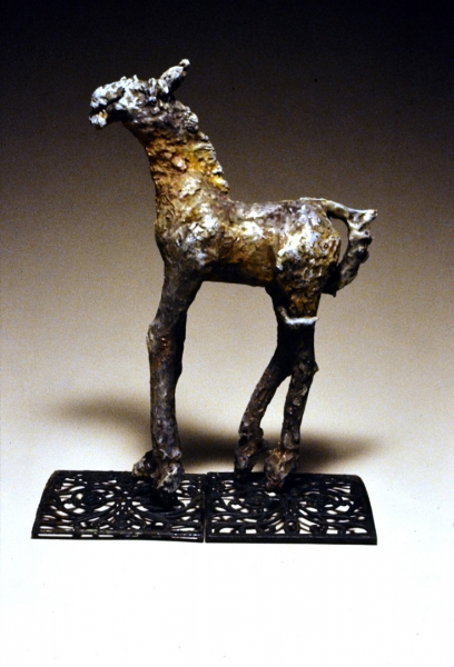 """Tail Between Your Legs, Raku fired earthenware. 27x16x8"""" Private Collection"""