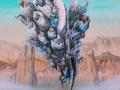 """Barnacle Dance, acrylic on wooden panel. 16x20"""""""