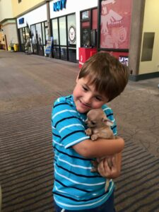 landon & puppy
