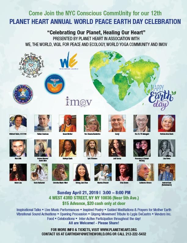 World Peace Earth Day Celebration & Benefit 2019