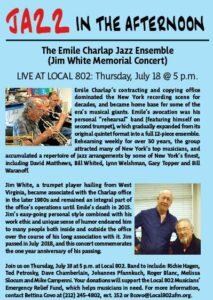 Charlap Ensemble w. Roger Blanc