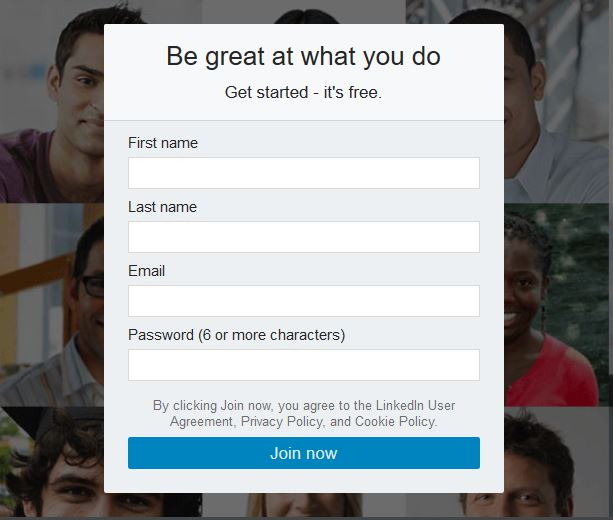 linkedin profile tips create account