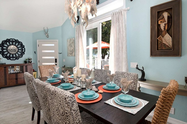 summer decorating dining room rental