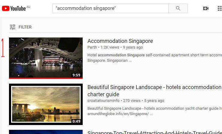 accommodation video marketing singapore