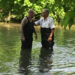 Baptism in the river Nashville TN