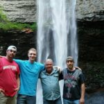 Fellas hanging out at the waterfall Nashville TN