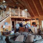 The beautiful cabin on our retreat Middle TN