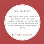 Nueva tarifa preferencial PYME para nuestros clientes