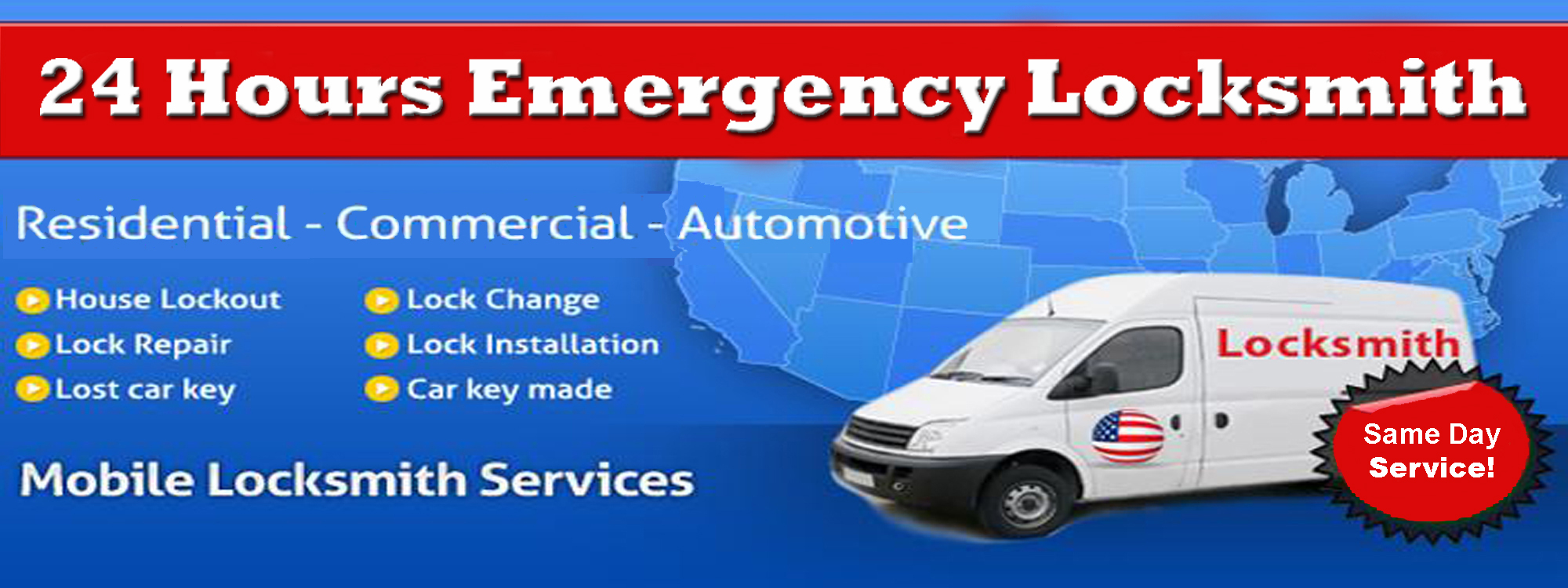 24 Hours Emergency Locksmith Slider