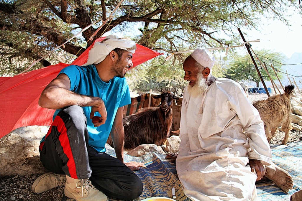 Hassan and our generous host engaging in deep, meaningful conversation.