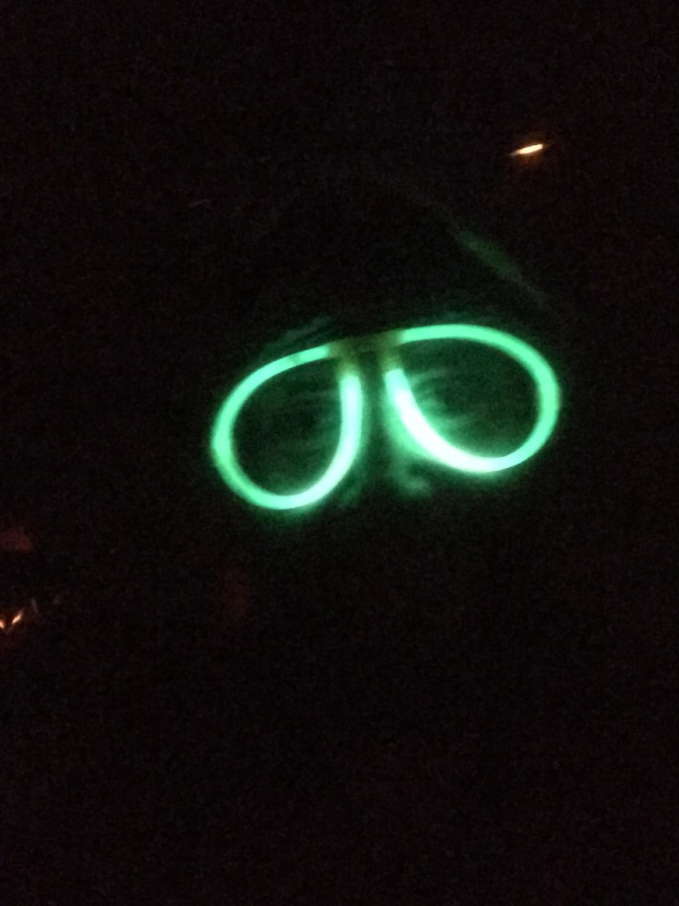 Because why not wear glow-in-the dark glasses!!
