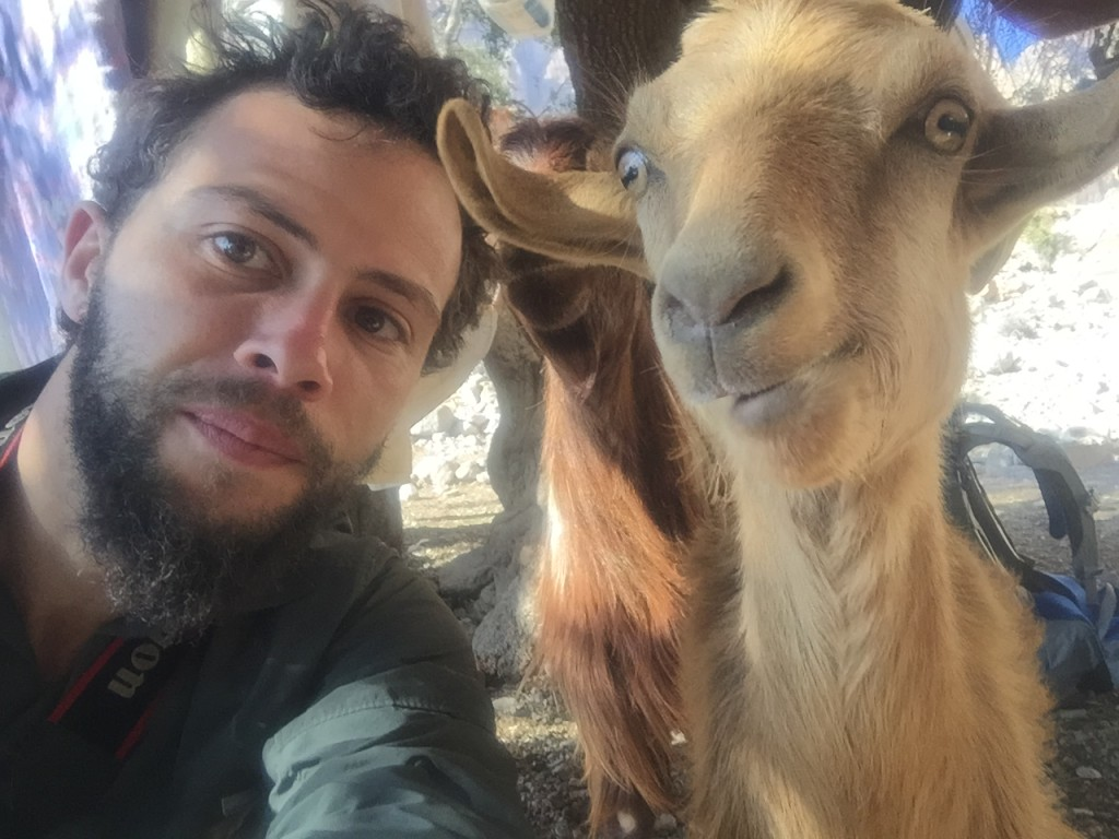 with my long beard, I'm beginning to wonder who looks more like a goat!!