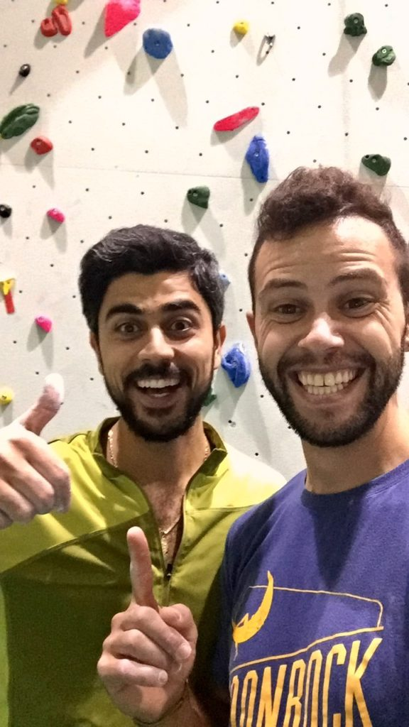 Adel & I at the climbing gym